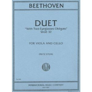 Beethoven, Ludwig Duet Two Eyeglasses Obligato WoO 32 for Viola, Cello - by Stein - International